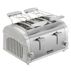 Toaster silver line 4t gris 230v 4 pièces Bartscher