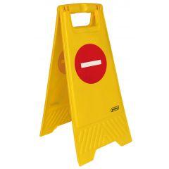 Panneau rectangulaire jaune 28 cm Probbax