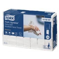 Essuie-main blanc ouate de cellulose 21x34 cm Tork (2100 pièces)
