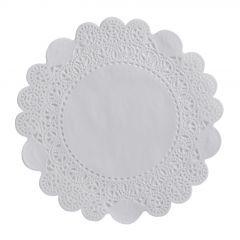 Dentelle ronde blanche Ø 25 cm (250 pièces)