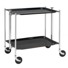 Table roulante noire aluminium Platex