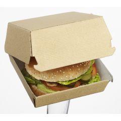 Boîte burger carrée beige 17x17 cm Solia (50 pièces)