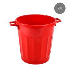 Conteneur rond rouge plastique 50 l Gilac