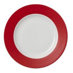 Assiette plate ronde rouge porcelaine Ø 21 cm Roma Color Pro.mundi