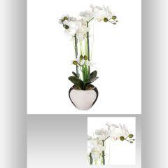 Orchidee pot argent 53 cm