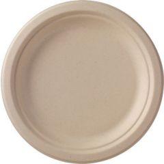 Assiette ronde marron Ø 22 cm Bagasse Duni (50 pièces)