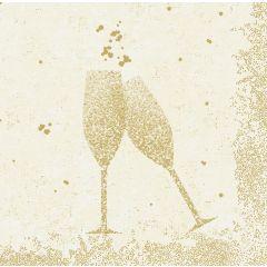 Serviettes ouate de cellulose 24x24 cm Celebrate Blanc Duni (50 pièces)