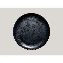 Assiette plate rond noir Ø 27 cm Karbon Rak