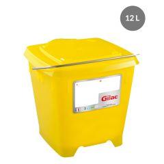 Seau carré jaune 12 l Gilac