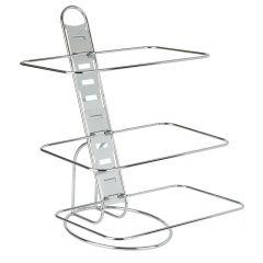 Support 3 niveaux pour paniers gn 1/1 rectangulaire gris acier 52 cm Aps