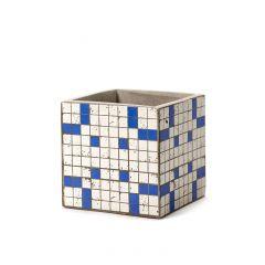 Pot marie mozaic carré bleu 15 cm Serax