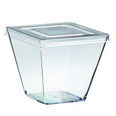 Verrine avec couvercle transparente 6,50x6,50 cm 15,50 cl Solia (100 pièces)