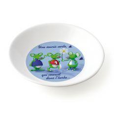 Assiette creuse ronde blanc mélamine Ø 18,50 cm Vaisselle Enfance Plastorex