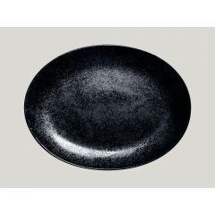 Plat ovale noir porcelaine ovale 32 cm Karbon Rak