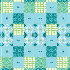 Nappe bleue non tissé 84x84 cm Dunicel Duni (20 pièces)