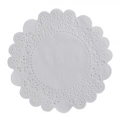 Dentelle ronde blanche Ø 10 cm (250 pièces)