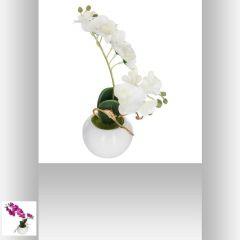 Orchidee pot argent 13 cm