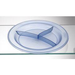 Assiette à compartiments ronde bleue plastique Ø 23,50 cm Vaisselle Copolyester Saint Romain