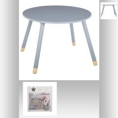 Table douceur gris d.60 cm grise 60x60 cm
