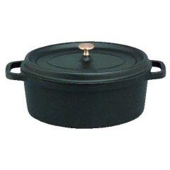 Cocotte noire fonte d'acier 37x41 cm 12 l Staub