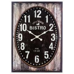 Horloge carrée marron 100 cm