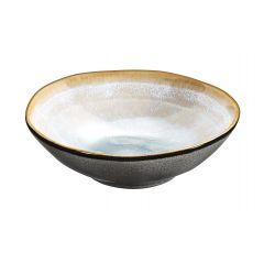 Coupelle ronde aqua grès Ø 15,20 cm Shadow Medard De Noblat