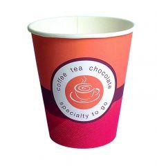 Gobelet orange carton 15 cl Hot Cup Huhtamaki (100 pièces)
