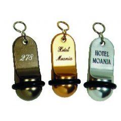 Porte-clés argent 7 cm