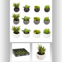 Plante grasse artificielle aimant Ø 7 cm 7 cm