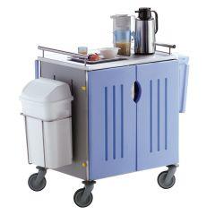 Chariot petit déjeuner bleu 61x81 cm Saint Romain
