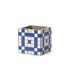 Pot marie mozaic carré bleu 13 cm Serax