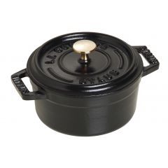 Mini cocotte avec couvercle noire fonte d'acier Ø 10 cm 0,25 l Staub (6 pièces)