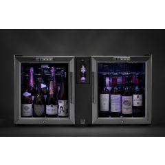 Tour du vin dual ? champagne + 2 caves 16 bouteilles 1 niveau 60 W Advineo