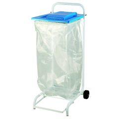 Support sac poubelle rectangulaire bleu 120 l Saint Romain