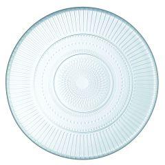 Assiette plate rond transparent verre Ø 19 cm Louison Luminarc