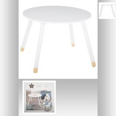 Table douceur blanc d.60 cm blanche 60x60 cm