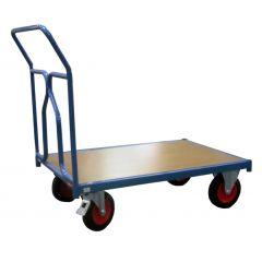 Chariot plateforme bleu 84x129 cm Fimm