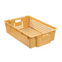 Caisse rectangulaire beige 28 l Gilac