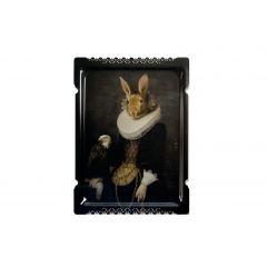 Plateau zhao rectangulaire 65 cm Portrait Ibride