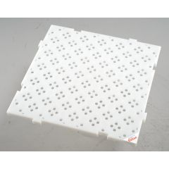 Caillebotis carré blanc 50x50 cm Gilac