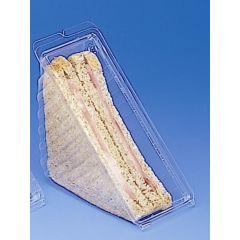 Boîte sandwich triangle transparente 7,80x18,50 cm Crudipack Alphaform (50 pièces)