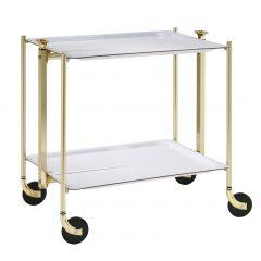 Table roulante or aluminium Platex
