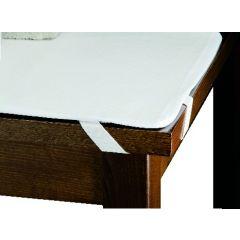 Protège-table imperméable rectangulaire blanc plastique 70x110 cm
