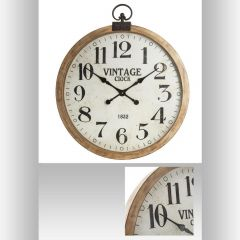 Horloge ronde marron 86,50 cm