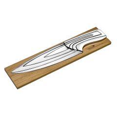 Coffret de 4 couteaux inox brun 35x8,50x2 cm Meeting Deglon
