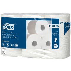 Papier hygiénique blanc ouate de cellulose 19 m Tork (6 pièces)