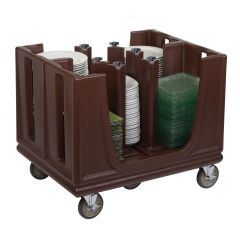 Chariot porte-assiettes marron 98,43x76,2 cm Adc/adcs/dcs Cambro