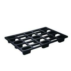 Palette de stockage rectangulaire noire 120x80 cm Gilac
