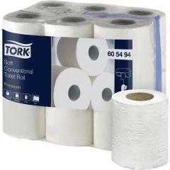 Papier hygiénique blanc ouate de cellulose 18,82 m Tork (108 pièces)