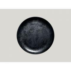 Assiette plate rond noir Ø 24 cm Karbon Rak